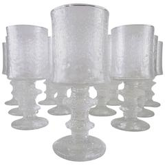 Set of 12 Mid-Century Senator Beer Glasses by Timo Sarpaneva for Iittala Finland