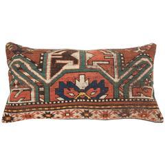 Antique Pillow, Caucasian Karabagh Rug Frag