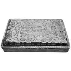 Late 19th Century Dutch Silver Box