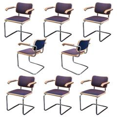 Set of Eight Knoll Cesca Chairs