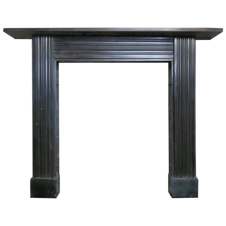 Antique georgian irish black marble fireplace mantel for for Marble mantels for sale