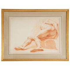 French 19th Century Figure Study Drawing