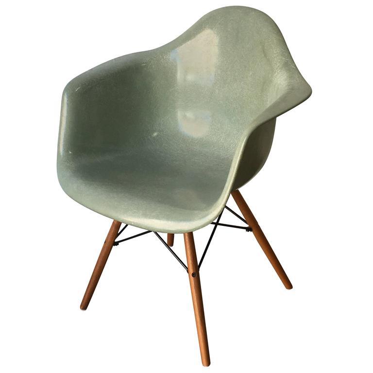Incredible Herman Miller Eames Seafoam Green Fiberglass Armchair Interior Design Ideas Ghosoteloinfo