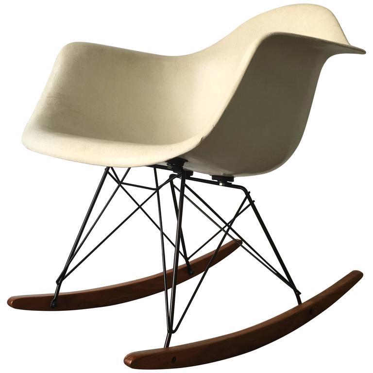 Herman Miller Eames Parchment RAR Rocking Chair