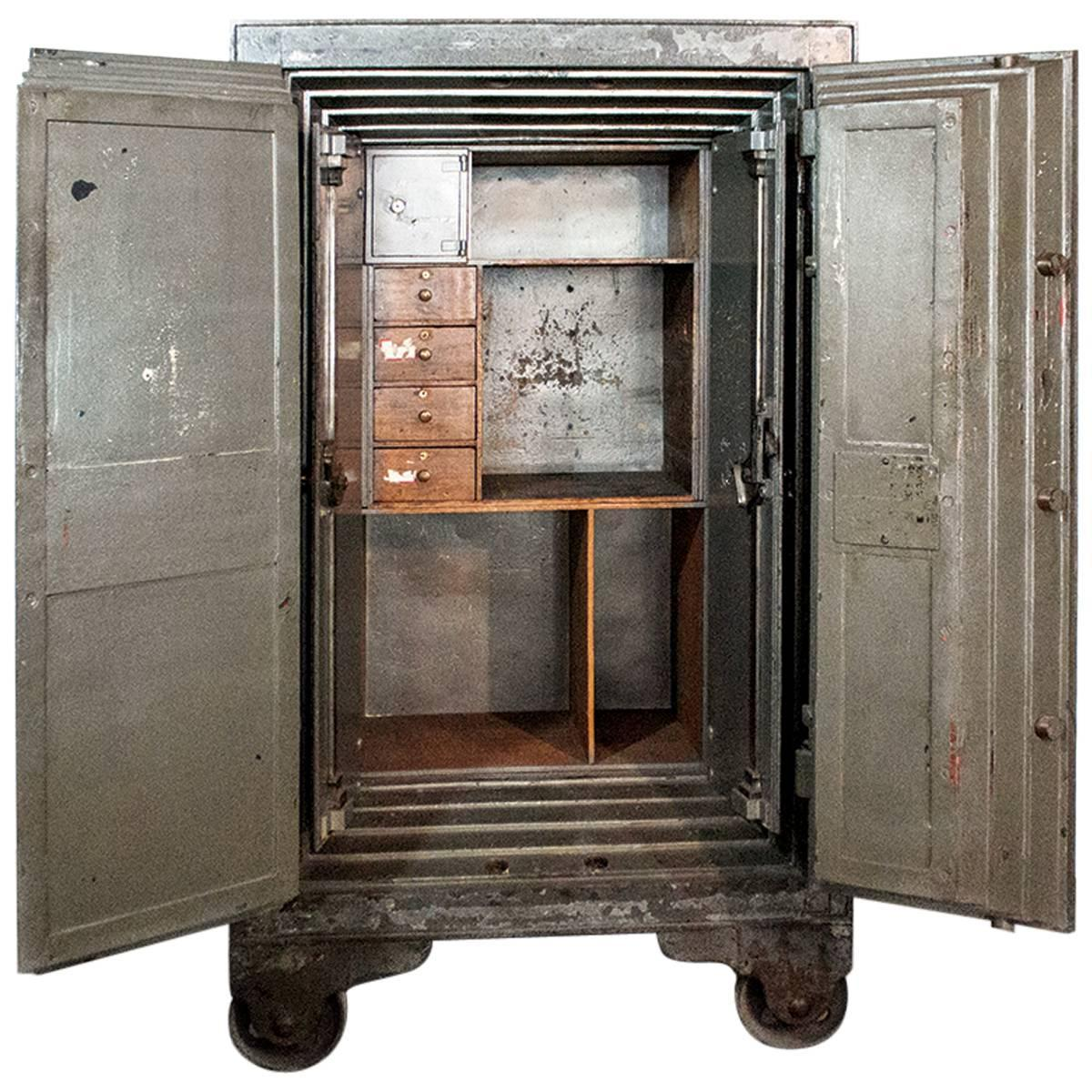 Massive Antique Floor Safe Circa 1875 At 1stdibs