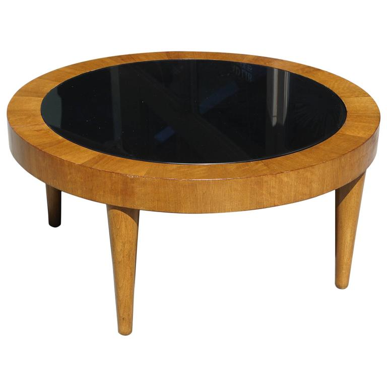American Period Art Moderne Walnut Coffee Table For