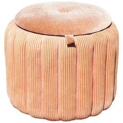 Art Moderne Upholstered Ottoman or Shoe Hassack