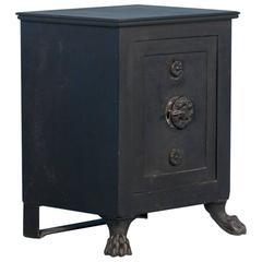 Antique Black Iron Safe from Denmark, circa 1890