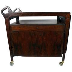 Gorgeous Danish Modern Rosewood Cart