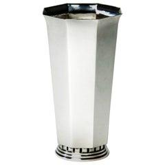20th century Swedish Silver Vase