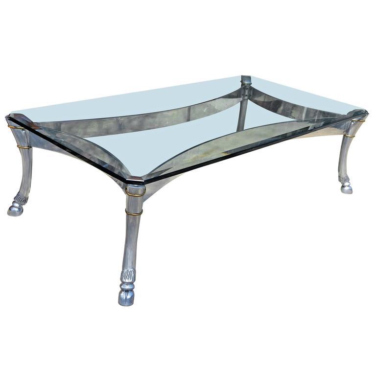 Aluminum Coffee Table with Hoofed Legs