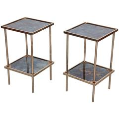 Pair of Side Tables or Nightstands Attributed to Maison Baguès