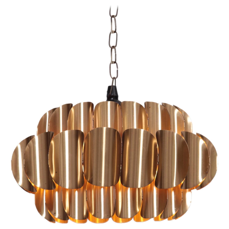 brass pendant lamp by hans agne jakobsson for sale at 1stdibs. Black Bedroom Furniture Sets. Home Design Ideas