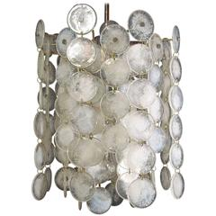 "Chandelier ""Thousand Moons"" by Carlo Nason for Mazzega, 1960s"