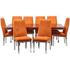 Paul Evans for Directional Set of Eight Dining Chairs