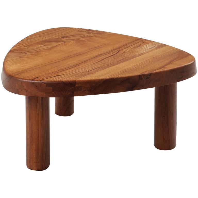 Pierre Chapo Coffee Table In Solid Elm At 1stdibs