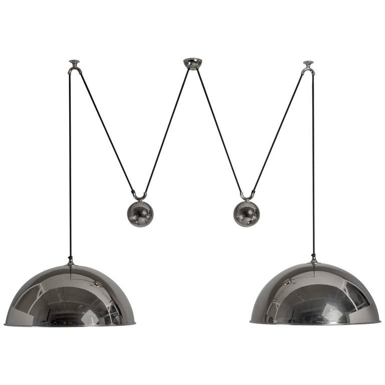 Florian Schulz Double Nickel Posa Pendants with Counterweights, Germany For Sale