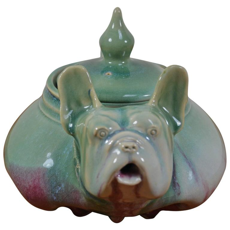 Awesome Vintage Bulldog Teapot