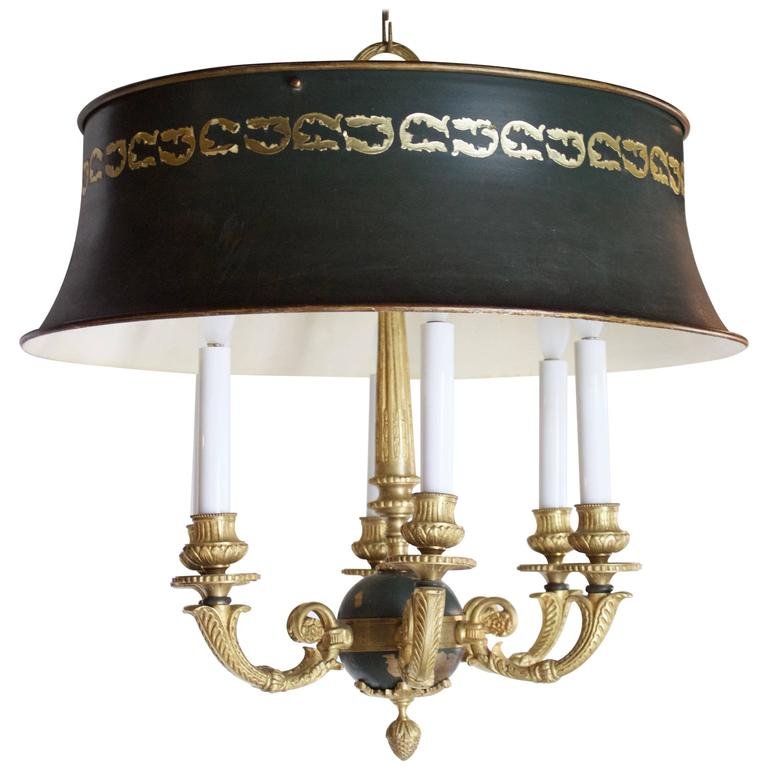 French 19th Century Empire Style Chandelier With Six Light