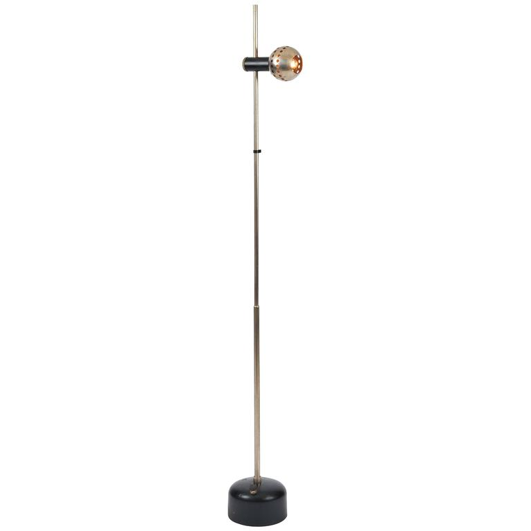 Magnetic Shade Floor Lamp by Angelo Lelli for Arredoluce
