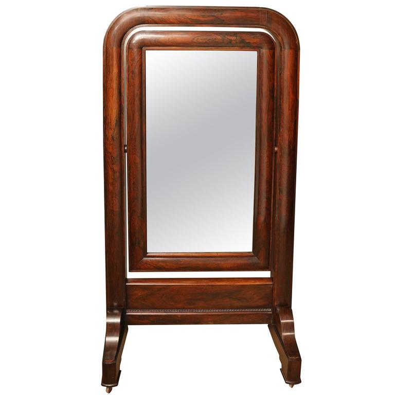 Early 19th Century, English, William IV Cheval Mirror For Sale