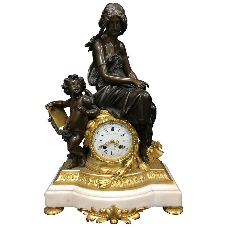 French Mantel Clock 19th Century, France, circa 1860