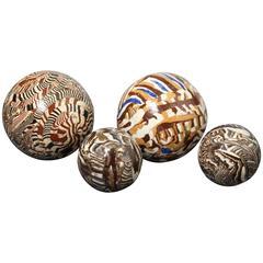 Agateware Pottery Ball, Staffordshire, Late 18th Century Period
