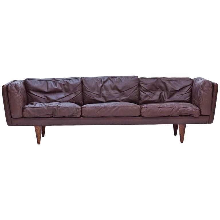 """""""V11"""" Leather Sofa by Illum Wikkelsø"""