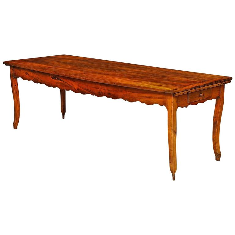 Fine French Fruitwood Farmhouse Table at 1stdibs