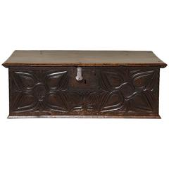 17th Century Welsh Oak Document Box