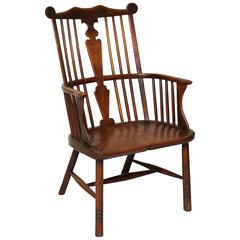 18th Century English Comb Back Windsor Chair