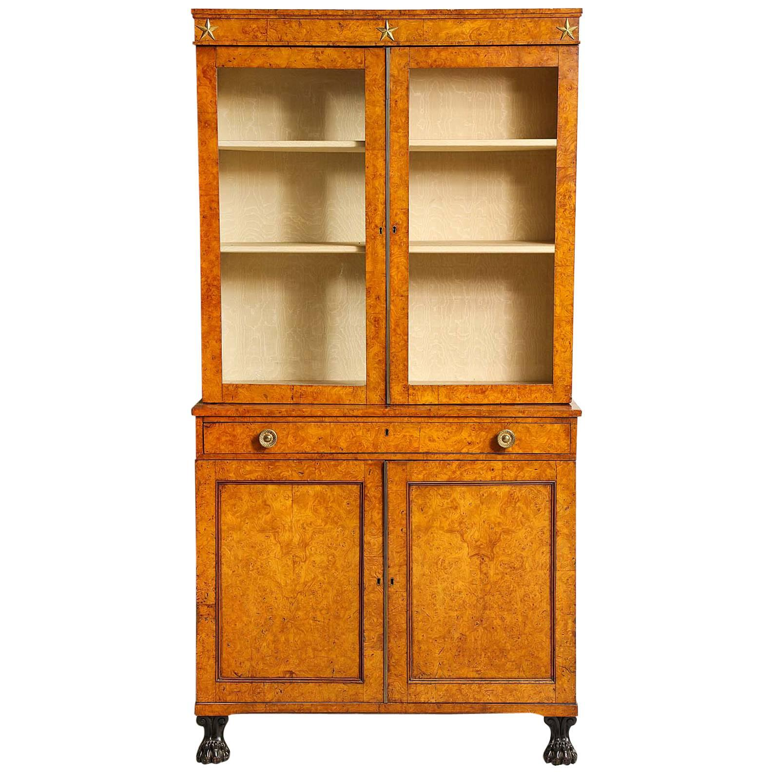 Early 19th Century Burr Oak Cabinet