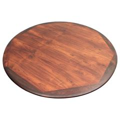 Rosewood Round Dining Table by Johannes Andersen