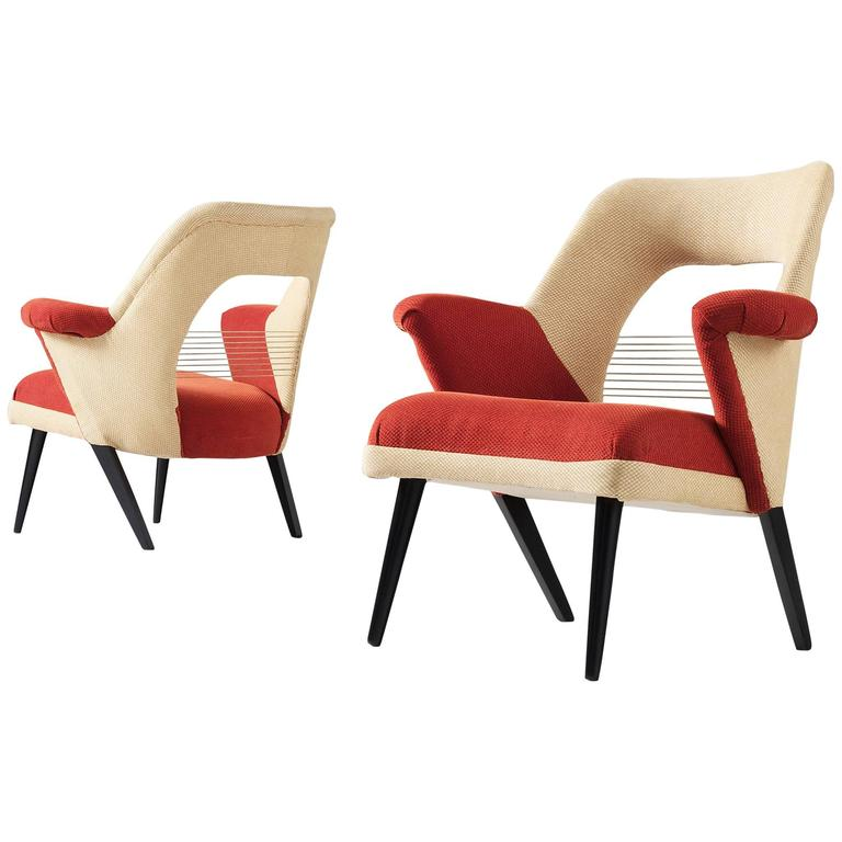 Pair Of Colorful Armchairs For Sale At 1stdibs