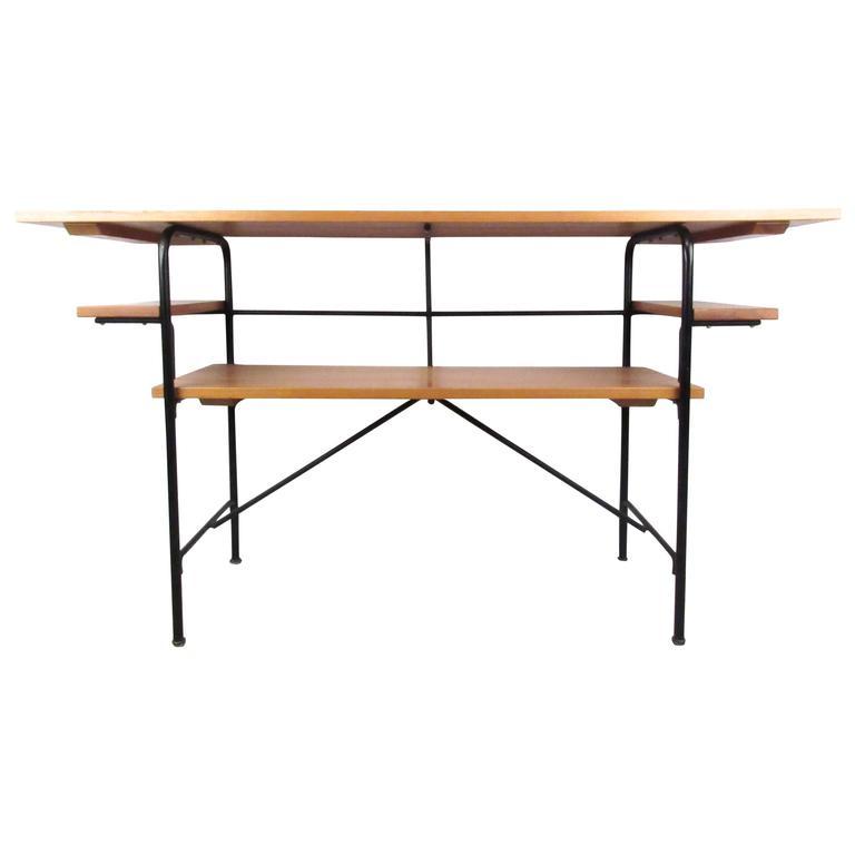 Unique modern arthur umanoff style console desk at 1stdibs for Unique looking desk