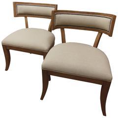 Pair Vintage Klismos Chairs