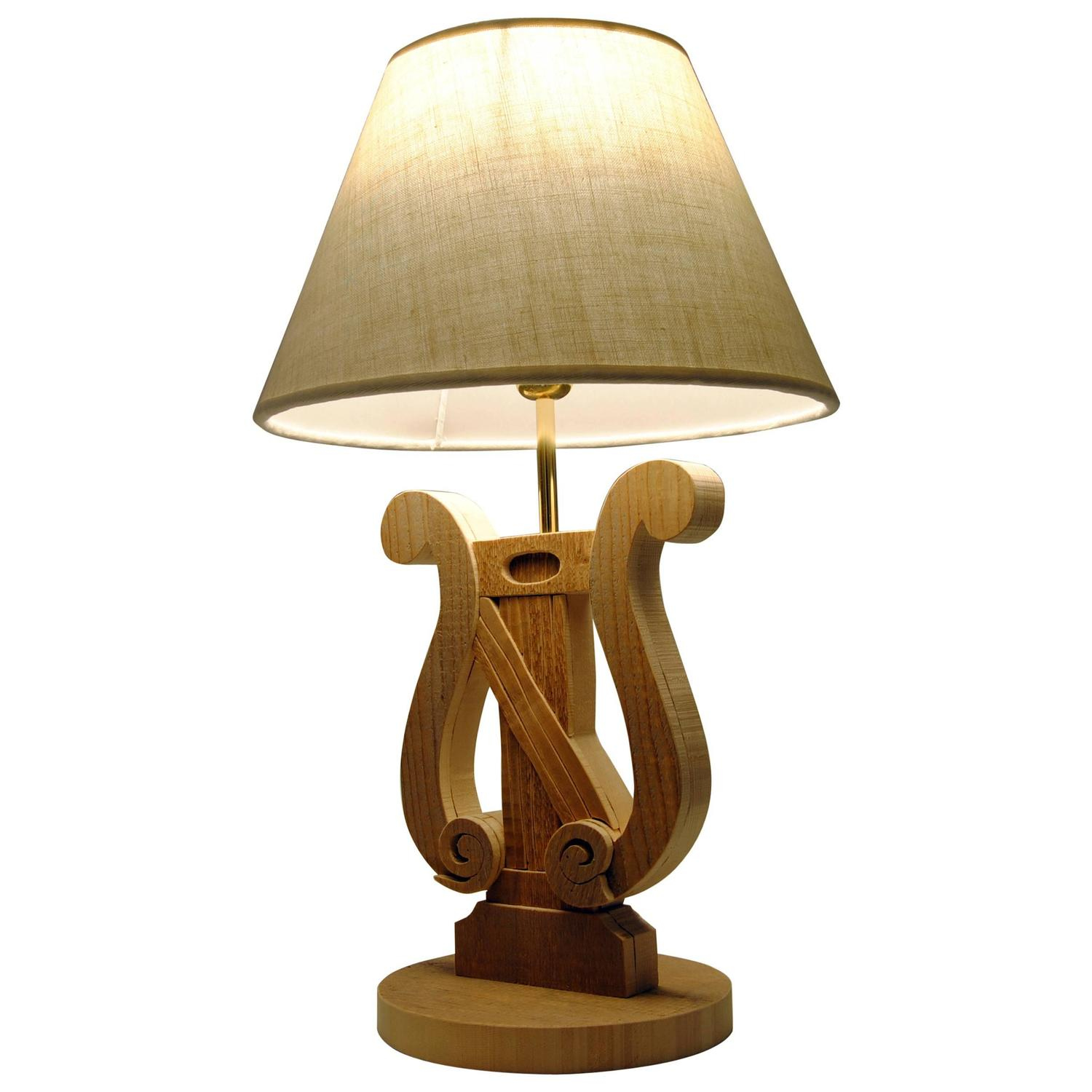musical wood table lamp by michelangeli italy for sale at 1stdibs. Black Bedroom Furniture Sets. Home Design Ideas