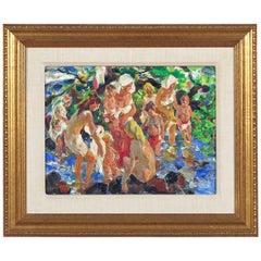 """Bathing Group"" Painting by John Edward Costigan"