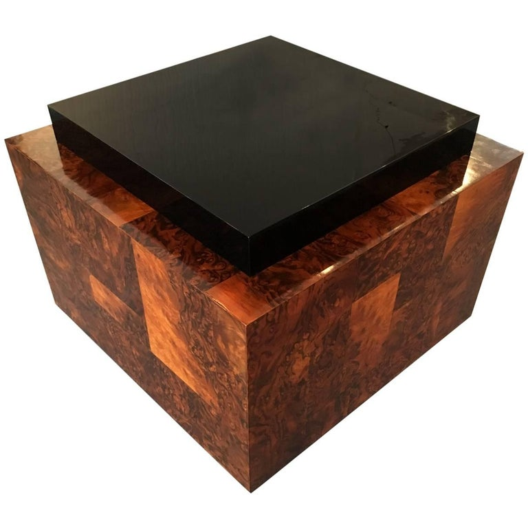 Burl Wood Patchwork Table by Paul Evans For Sale