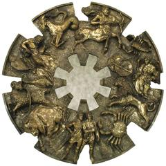 Finesse Originals Bronzed & Cast Resin Zodiac Mirror Wall Hanging