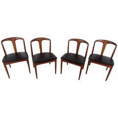 Four Mid-Century Teak Dining Chairs by Vamo Sonderborg