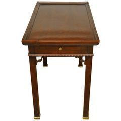 George III Style Mahogany Tea Table