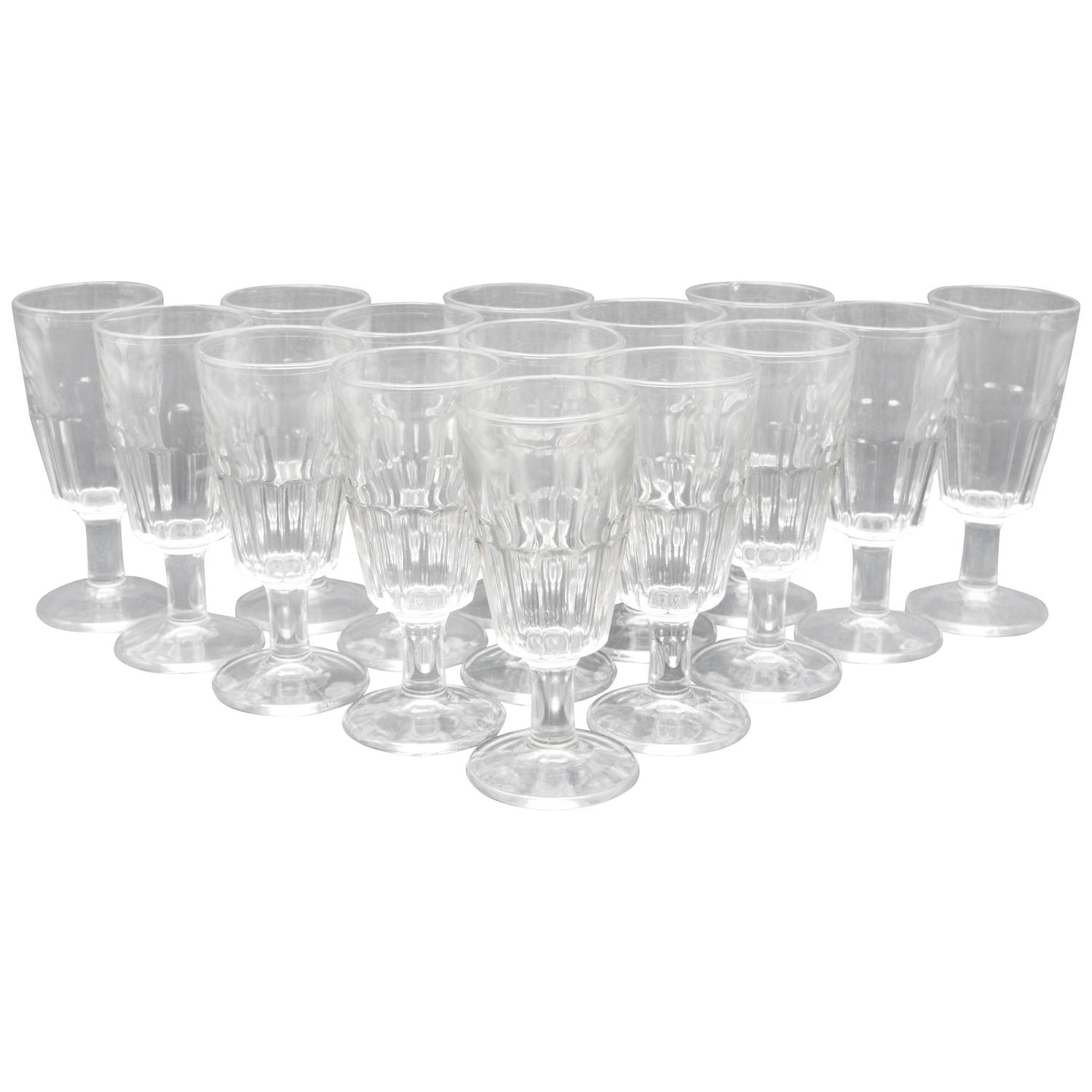Set Of 16 French Absinthe Form Bistro Glasses For Sale At 1stdibs