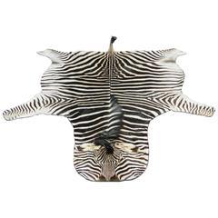 """Grade """"A"""" Equus Burchell Zebra Skin Rug"""