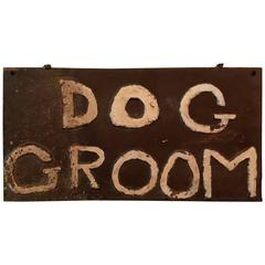 Steel Dog Grooming Sign
