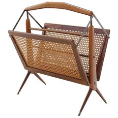 Rare Folding Design Magazine Rack