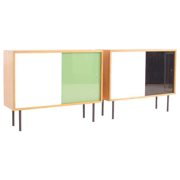 Small Teak Cabinets By Georg Satink For WK Möbel For Sale