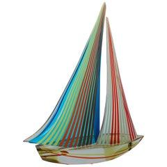Sailboat Sculpture by Alberto Dona'