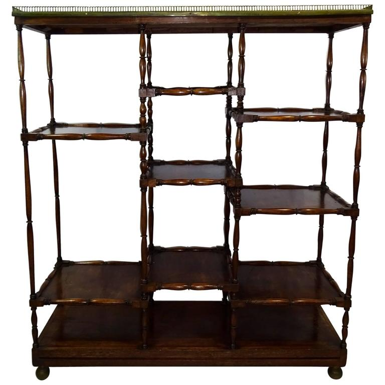 Mid 19th century english mahogany etagere at 1stdibs - Etagere cases carrees ...