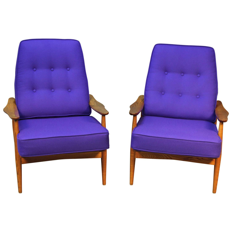 Danish Teak Lounge Chairs at 1stdibs